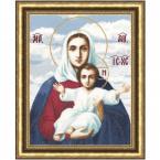 """Набор для вышивания Золотое руно ПИ-011 """"Леушинская икона Божией Матери"""" 39х30 см."""